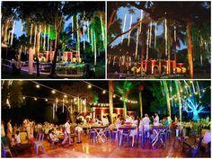 Mayan Wedding String Lighting Decor | REAL WEDDING: Toni & Damian | Hacienda Itzincab Camara | Photo: Jaime Glez | Yucatán, México.