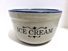 RED WING ICE CREAM BOWL MARKED - RED WING STONEWARE CO.  RED WING, MINN. #REDWING