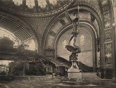 ARCHI/MAPS - Inside the grand staircase of the Palais des Machines at the 1889 World's Fair, Paris Art Nouveau, Tour Eiffel, La Belle Epoque Paris, Victorian Photos, Old Paris, Unique Buildings, Historical Architecture, Classical Architecture, Ancient Architecture