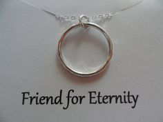 Large and Heavy Eternity Necklace Sterling by weddingbellsdesigns