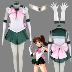 Sailor Moon Makoto Kino/Sailor Jupiter Cosplay Costume $65.18