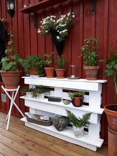 Wooden Pallets, Pallet Projects, Restaurant, Planter Pots, Patio, Interior Design, Create, Inspiration, Outdoor