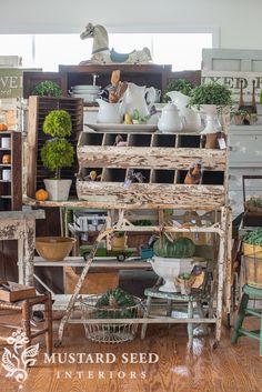 Market on Chapel Hill - Miss Mustard Seed Cottage Style, Farmhouse Style, Farmhouse Decor, Antique Booth Ideas, Silo House, Vintage Market, Antique Market, Miss Mustard Seeds, Home Decor Store