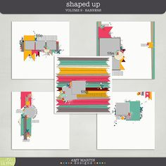 Templates: Shaped Up v9 - Banners by Amy Martin Designs https://the-lilypad.com/store/Templates-Shaped-Up-v9-Banners.html