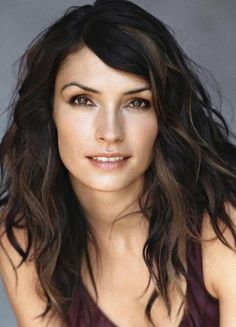 famke janssen, one of the people I've been compared to and I don't hold a candle to but she is stunning and I appreciate that someone compared me to her and this a  really long run on sentence! ;)