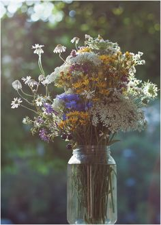 There is nothing like freshly picked wild flowers.