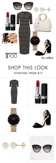 """Dresses under 100 $"" by eulica on Polyvore featuring мода, Sugarhill Boutique, Christian Dior, CLUSE, Belk & Co., River Island и under100"
