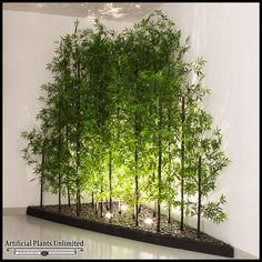 For indoor bamboo in lifelike faux displays, fake bamboo is a refreshing alternative to live plants. Buy Indoor Artificial Bamboo in various sizes and styles. House Plants Decor, Plant Decor, Indoor Trees, Indoor Plants, Indoor Bamboo, Bamboo Planter, Bamboo Construction, Interior Garden, Artificial Plants