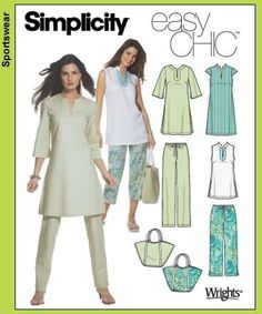 Simplicity 5069. I think I want to make an Indian kurta (tunic top).