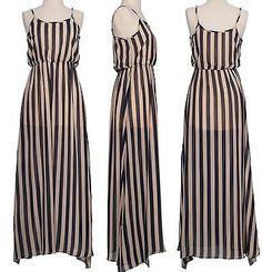Ringelkleid maxi dress