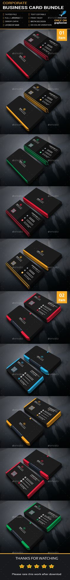 Corporate Business Card Bundle - Business Cards Print Templates Download here : http://graphicriver.net/item/corporate-business-card-bundle/15787476?s_rank=286&ref=Al-fatih