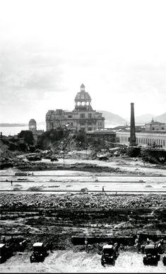 A Esplanada do Castelo, em 1928, à direita a Santa Casa da Misericórdia