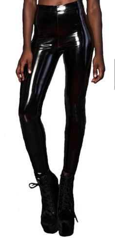 fc74f5bd Lip Serivce Turbo Lover 4-way Stretch Vinyl PVC High Waisted Shiny Leggings.  Monochrome Clothing
