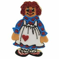 Children's Themes Cookie Cutters - Cookie Cutter Vintage Raggedy Ann Tin