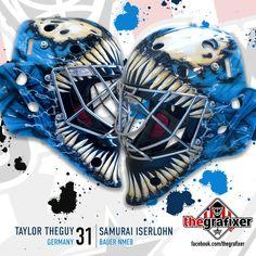 Goalie Gear, Hockey Helmet, Goalie Mask, Hockey Goalie, Marvel Venom, Masks Art, Blink 182, Mask Design, Airbrush