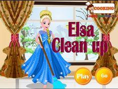 Frozen Games - Frozen Elsa Clean Up