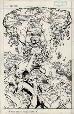 Incredible Hulk #336 Unpublished Cover by Todd McFarlane Comic Art
