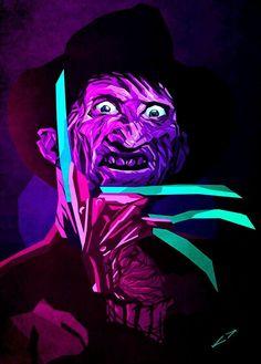 Various Sizes Box Canvas: Freddy Krueger Grunge Art Nightmare On Elm St