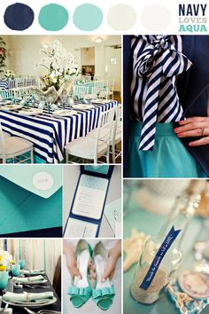 Color COMBO: Navy Blue & Aqua