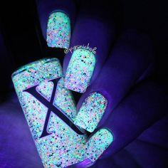 Neon Bubbles - Black, Silver Holo & Neon Microglitter Polish