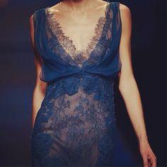 5281f96c6ea3 Blue detail from Alberta Ferretti SS13 Fashion Show Mørkeblå