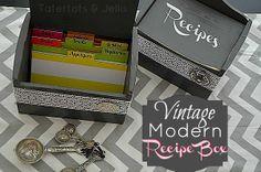 Make a Vintage/Modern Recipe Card Holder – with Free Printable!
