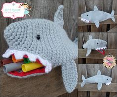 "Seller: Lainey's Bowtique Shark Pencil Zipper Pouch Apx 12"" long x 4"" tall Starting Bid: $10 Bid Increments: $1 Shipping: $3 (will combine shipping for additional $.50 per item) www.facebook.com/laineyscustombowtique Bid Here: https://www.facebook.com/BOWMAFIAGIRLS/photos/a.734450866617720.1073741943.477604452302364/734695273259946/?type=3&theater"