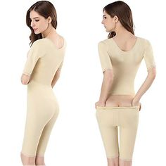 e24db6c43c0 Women s Shapewear Full Body Shaper Waist Cincher Thigh Reducer Arm Shapers  Compression Bodysuit with Posture Corrector