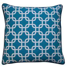 Jiti Teal 20 x 20-inch Links Pillow