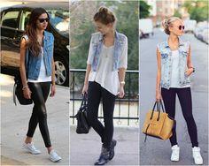 Como usar colete feminino no inverno para aquecer e destacar o look-colete jeans Casual Chic, Style Casual, Casual Looks, Casual Outfits, Fast Fashion, Look Fashion, Fashion Outfits, Womens Fashion, Fashion Trends
