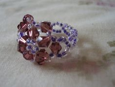 STRAWBERRY BOX: Bead ring tutorial! (chunky front detail style), easy to follow.