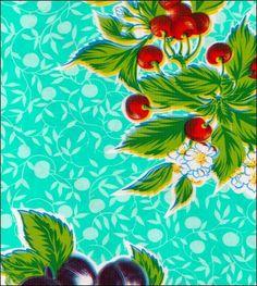 Plum Aqua Oilcloth: super cute by oilcloth by the yard--RH