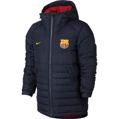 406136732f FC Barcelona Hooded Down Jacket