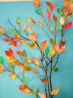 Create Autumn Leaves With Coffee Filters - Things to Make and Do, Crafts and Activities for Kids - The Crafty Crow