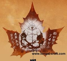 Amazing!! hand carved onto a leaf!!!  Longal Craft Factory