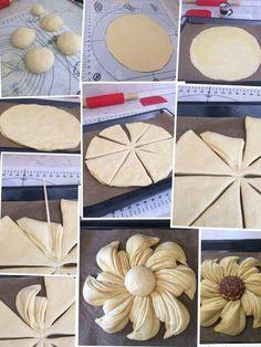 Ideas for baking bread shapes Bread Machine Recipes, Bread Recipes, Baking Tips, Baking Recipes, Pogaca Recipe, Pan Relleno, Bread Art, Bread Shaping, Bulgarian Recipes
