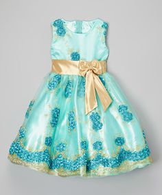 This Blue Floral Embroidered Overlay Dress - Toddler & Girls by Kid Fashion is perfect! #zulilyfinds