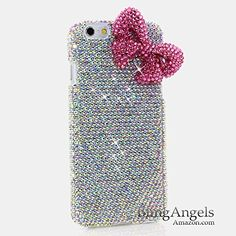 "iPhone 6 (4.7"") Bling Case - BlingAngels® Luxury Bling iphone 6, 6S Case Cover Faceplate Swarovski Crystals Diamond Sparkle bedazzled jeweled Design Back Snap-on Hard Case (100% Handcrafted by BlingAngels) (Authentic AB Clear Crystals with Large Pink 3D Bow Design) BlingAngels http://www.amazon.com/dp/B00OJP91RK/ref=cm_sw_r_pi_dp_S5sZwb1TG2JAT"
