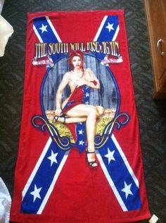 rebel flag pin up