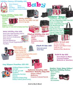 Thirty - One gift products that are AWESOME for baby!  www.mythirtyone.com/gutgirls