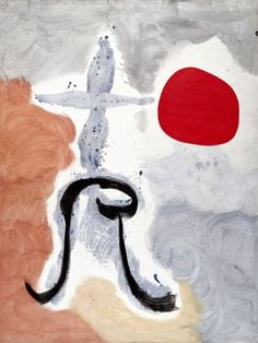 Joan Miró, Frau vor der Sonne, 1949. Albertina, Wien - Sammlung Batliner © Bildrecht, Wien, 2013