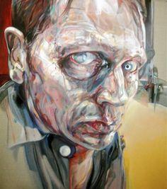 self attic 2006.oil on canvas 60cm x 60cm By Rupert Bathurst