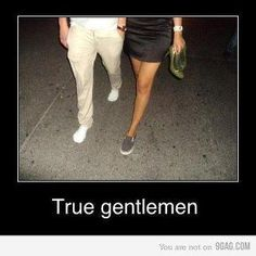 Aww..thats so cute . yes a true gentleman indeed - must not allow the lady to keep walking in her heels when they hurt her feet. Yes