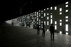 2   A 130-Foot Display For Mesmerizing Monochrome Abstractions   Co.Design: business + innovation + design