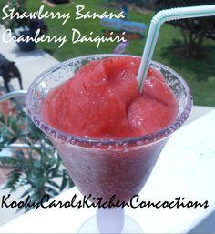 Strawberry Banana Cranberry Daiquiri