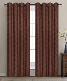 The Final Grab Inc. Lattice Geometric Blackout Thermal Grommet Single Curtain Panel Size: W x L, Color: Charcoal Thermal Curtains, Grommet Curtains, Blackout Curtains, Drapes Curtains, Window Drapes, Window Panels, Curtain Panels, Extra Wide Curtains, Decorative Curtain Rods
