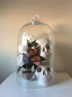 A personal favorite from my Etsy shop https://www.etsy.com/listing/499000411/skull-home-decor-skull-glass-skulldome-skull Skull bell jar Gothic home decor Home decor Skull replica Skull Skulls