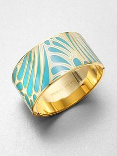 Kate Spade's enamel bangle hits the spot!