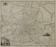 Lot 366 - William Wilson - MODERN PLAN OF DUBLIN CITY - 18th Century Black Ink Print - 18 x 21 inches -