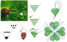 "Best 12 Beaded beads tutorials and patterns, beaded jewelry patterns, wzory bizuterii koralikowej, bizuteria z koralikow - wzory i tutorialeBest 11 Tree diagram of beads ""Ruby"" / Scheme / Trees and colors of beads – SkillOfKing. Beaded Flowers Patterns, French Beaded Flowers, Beaded Jewelry Patterns, Beading Patterns, Bracelet Patterns, Beaded Crafts, Beaded Ornaments, Beading Projects, Beading Tutorials"